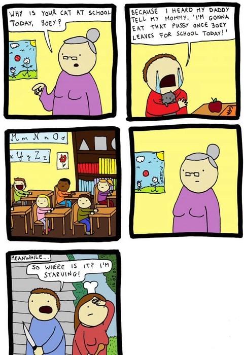 Cats,puns,school,sad but true,web comics