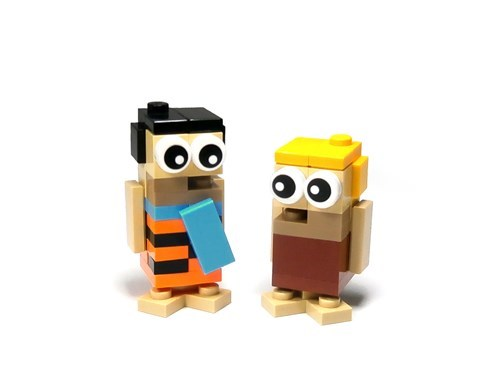 Fred and Barney in LEGO