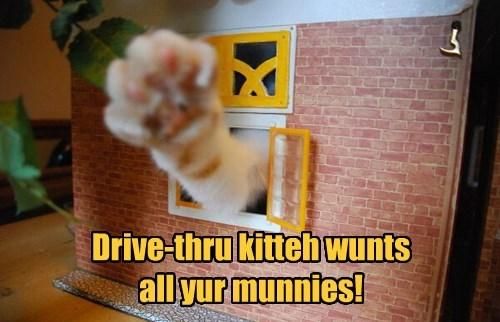 No munnies, no foods!