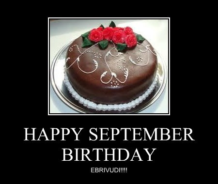 HAPPY SEPTEMBER BIRTHDAY