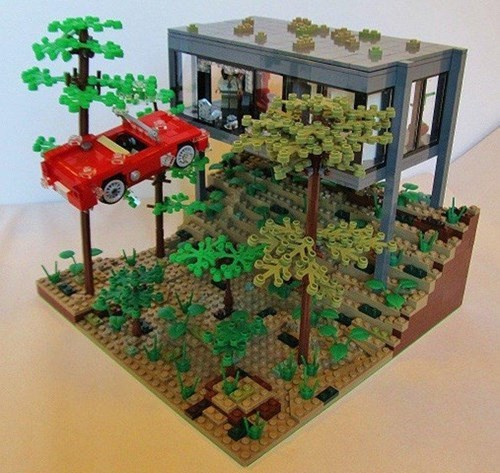 A Classic Scene in Classic Bricks