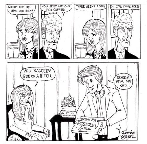 12th Doctor,amy pond,11th Doctor,web comics,clara oswin oswald
