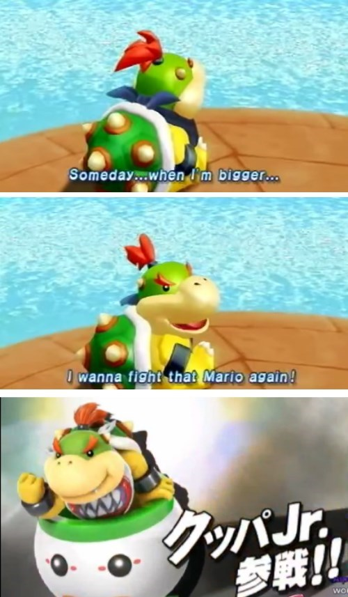 Baby Bowser Gets His Chance In Smash Brothers