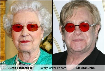 Queen Elizabeth II Totally Looks Like Sir Elton John