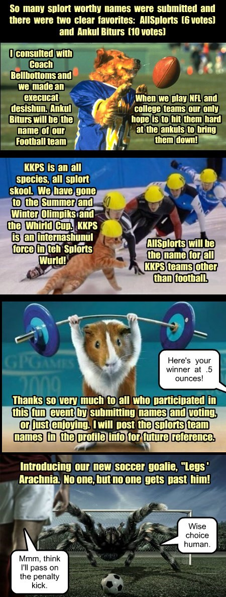 KKPS Sports Team Name Winners!