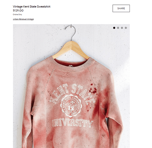 "Urban Outfitters Attempted to Sell a ""Vintage, One of a Kind"" Sweater That Reminded Everyone of a Bloody Protest Battle"