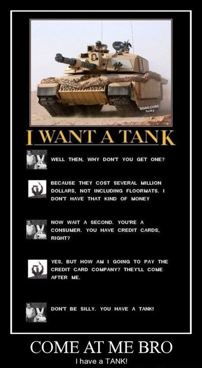 Can't Fight a Tank