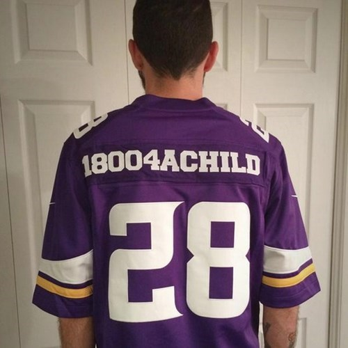One Fan Repurposed an Adrian Peterson Jersey for Something Amazing