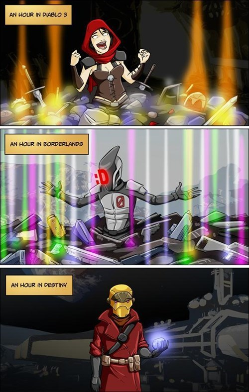 diablo 3,borderlands,destiny,gaming,sad but true,web comics