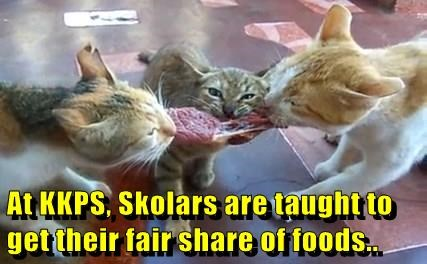 At KKPS, Skolars are taught to get their fair share of foods..