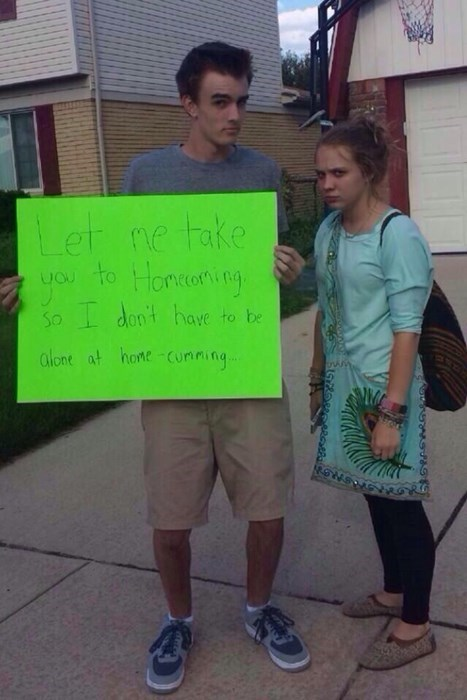 Now That's How You Ask a Girl to Homecoming
