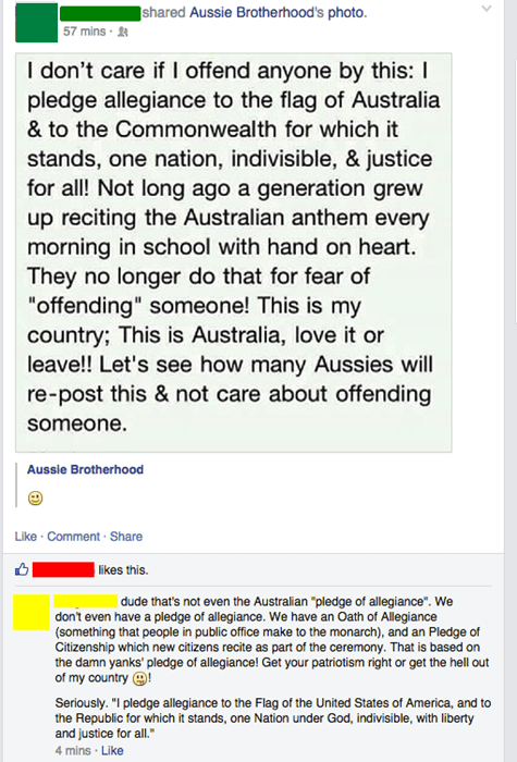 pledge of allegiance,australia,america