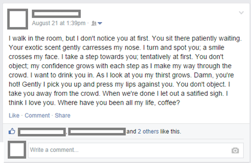 Wait For It,coffee,sexy times,failbook,g rated