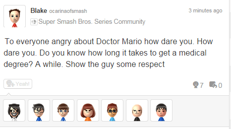 Dr Mario,super smash bros,respect,Miiverse