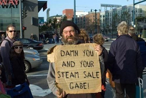 gabe newell,homeless,valve,sad but funny