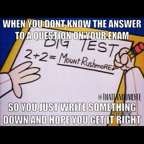 Test Taking for Dummies....