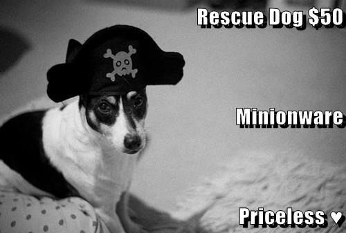 Rescue Dog $50 Minionware Priceless ♥
