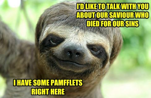 Pamfflets right here...