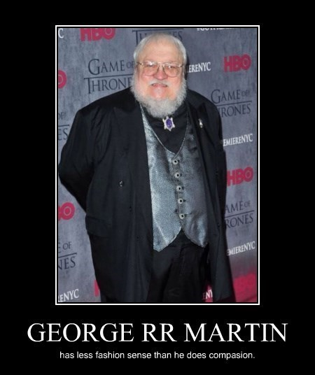 fashion,George RR Martin,funny,poorly dressed,terrible,wtf