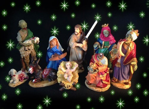 The Silent Night of the Living Dead Nativity Set