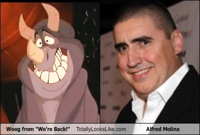 "Woog from ""We're Back!"" Totally Looks Like Alfred Molina"