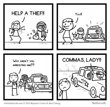 grammar,comma,thief,web comics
