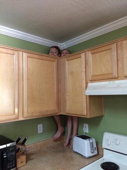 cabinet,kids,parenting,kitchen,stuck