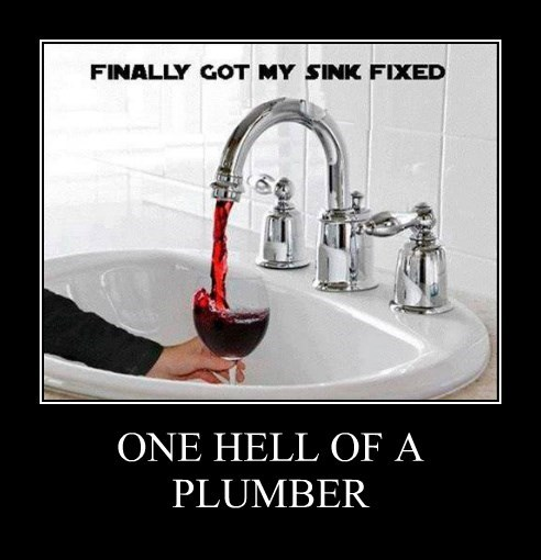 ONE HELL OF A PLUMBER