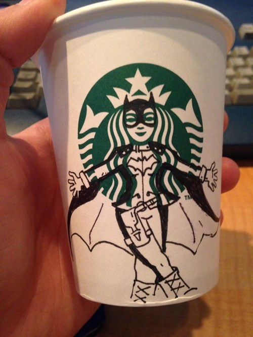 That Should Get the Starbucks Logo Ready for Halloween