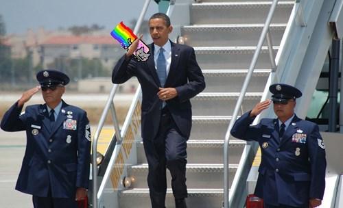 Obama Saluting Things #1