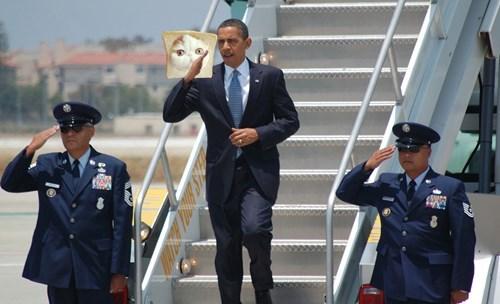 Obama Saluting Things #4