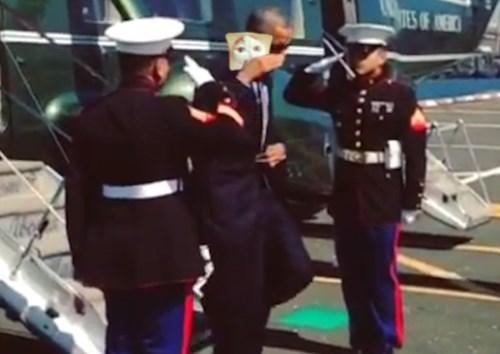 Obama Saluting Things #6