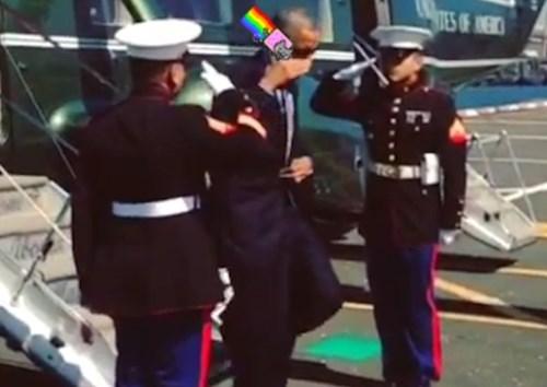Obama Saluting Things #7
