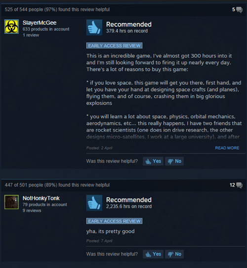 The Two Types of Steam Reviews