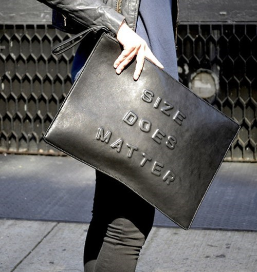 purse,poorly dressed,size matters