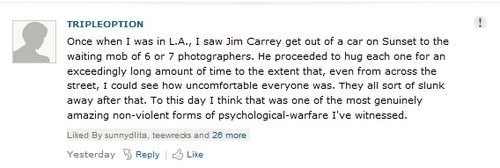 Jim Carrey Handles the Paparazzi Like a Champion