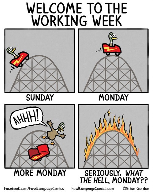 monday thru friday,roller coaster,work,web comics