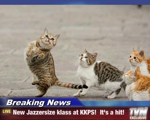 Breaking News - New Jazzersize klass at KKPS!  It's a hit!