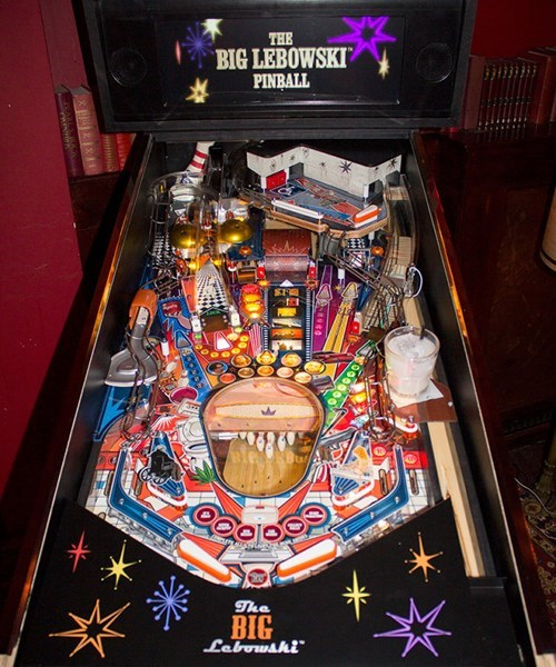 This is the Prototype for the Big Lebowski Pinball Machine, Because There Are RULES Man