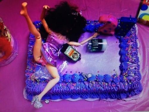Barbie,21,cake,funny