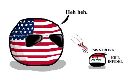americaball,isis,countryballs