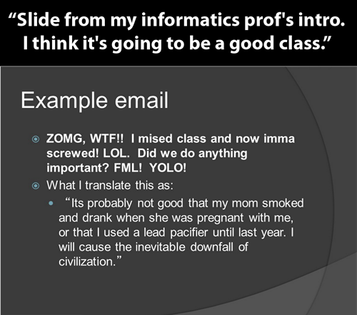 When Professors Keep It Real