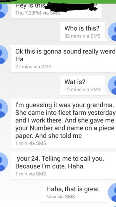 When Your Gram-Gram Wants You to Get Some