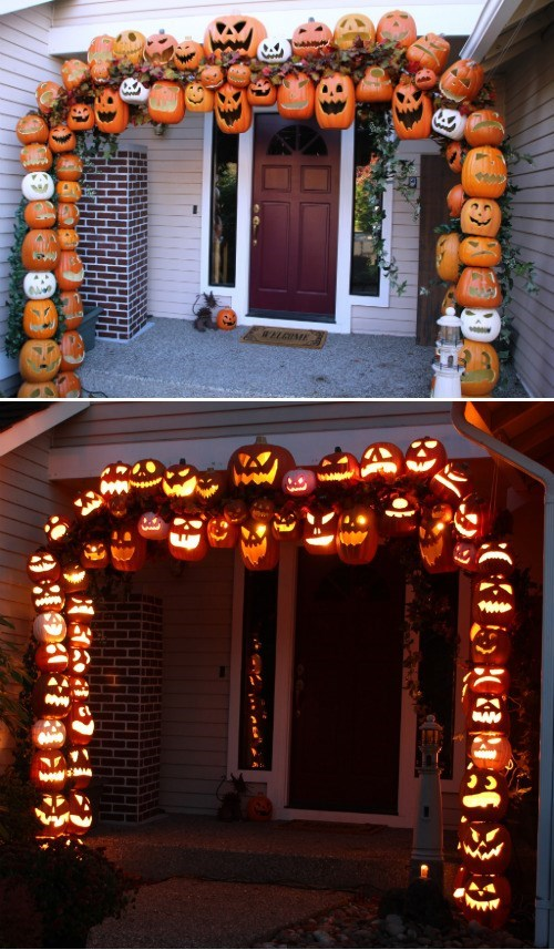 Make Your Own Pumpkin Archway