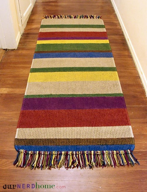 Make Your Own Tom Baker Scarf Rug