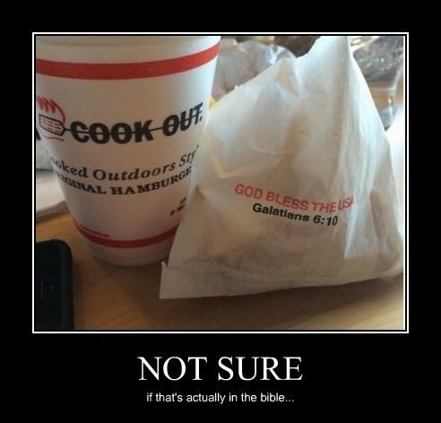 bible,fast food,funny,usa