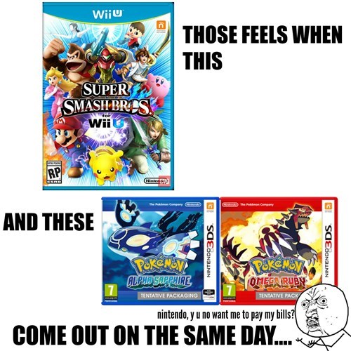 Pokémon,ORAS,super smash bros,money,nintendo
