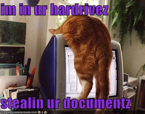 im in ur hardrivez   stealin ur documentz