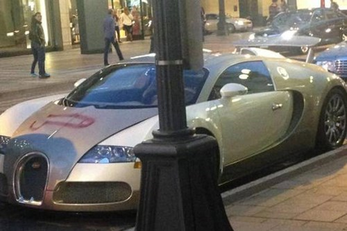 Yes, That is a Giant Dong Spraypainted on the Hood of a 1.5 Million Dollar Bugatti Veyron