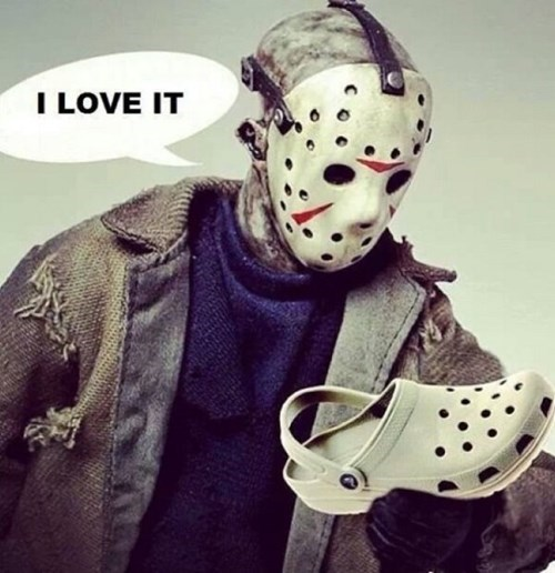 crocs,friday the 13th,horror,poorly dressed,jason voorhees